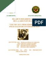 Silabus Tec. Proc. Inv. Policial Ets