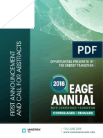 First Announcement EAGE Annual 2018