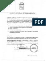 CITACION ASAMBLEA ORDINARIA