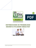 Distribuciones Discretas y Continua Utilizando Mega Stat Ing