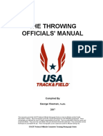 Throwing Officials Manual