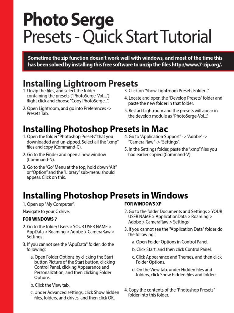Presets-Readme1st pdf   Adobe Photoshop Lightroom   Adobe