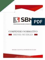 Compendio Normativo Bienes Muebles Actualizado a Setiembre 2016