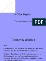 Thermionic Emission