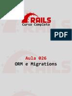 Aula 026 ORM e Migrations
