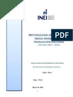 Metodologia Indice Mensual Produccion