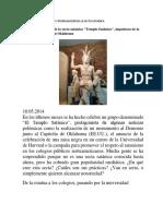 Metodo de Crecimeinto y Propagacion de La Secta Satanica
