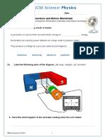 Generators and Motors Worksheet-1452167452