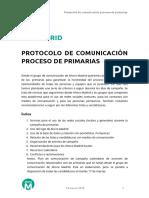 AHORAMADRID Protocolo Comunicacion Primarias 0314