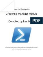 Powershell Commandlets - Credential Manager Module
