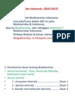 1. Kuliah 1. Pengantar Biodiversitas Indonesia