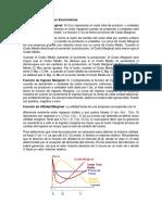 Funciones Marginales Económicas