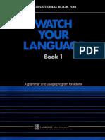 Watch Your Language Text 1 (Wat - Brian Schenk