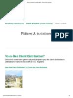 Plâtres & Isolations _ Lafarge_platrerie
