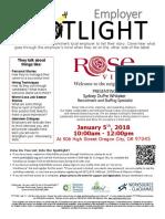 Employer Spotlights January 2018