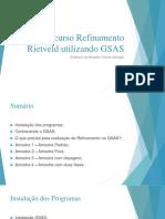 Mini-curso Refinamento Rietveld Utilizando GSAS