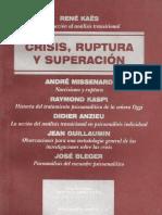 Crisis, ruptura y superación [René Kaës]