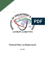 Iraq 2008 National Policy