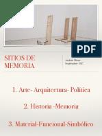 Sitios de Memoria