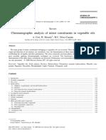 Analisis Cromatografico de Elementos Menores