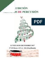 AUDICIÓN Percusión Cadiz