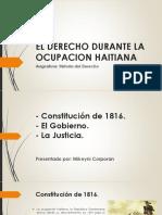El Derecho Durante La Ocupacion Haitiana