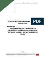 Evaluación Preliminar de Impacto Ambiental
