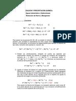Oxidación y Precipitación Química