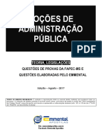 4 EA TLQ Nocoes de Administracao Publica 2017 Camara Municipal Campo Grande-MS NM Demonstracao