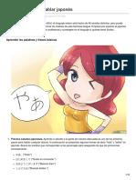 Cómo Aprender a Hablar Japonés