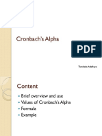 Notes on Cronbach's Alpha