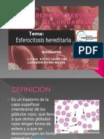 Expo 2 de Esferocitosis Eritrocitaria