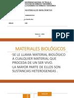 MATERIALES BIOLOGICOS