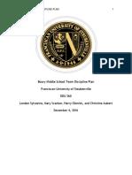 behavior management project