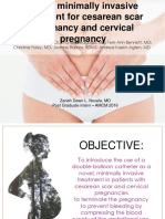 OB Journal-A New Minimally Invasive Treatment of Cesarean Scar Pregnancy and Cervicl Pregnancy