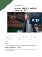 Francky Dur - Hervorming Van Het Belgische Voetbal