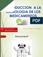 Clase 1. Introduccion a La Tecnologia de Medicamentos
