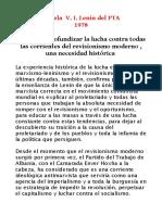 Ampliar y Profundizar La Lucha Contra Todas Las Corrientes Del Revisionismo Moderno Una Necesidad Historica