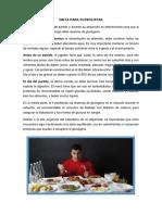 Dieta Para Futbolistas