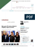 Mercosul e UE estão na linha de chegada; é agora ou nunca - 14_12_2017 - Matias Spektor - Colunistas - Folha de S