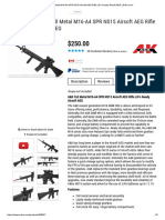 A&K Full Metal M16-A4 SPR NS15 Airsoft AEG Rifle LiPo Ready Airsoft AEG _ Evike