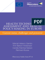 Health Technology Assessment and Health Policy-Making in Europe Current Status, Challenges, And Potential