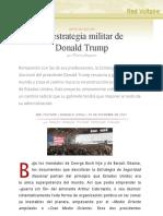 La Estrategia Militar de Donald Trump, Por Thierry Meyssan