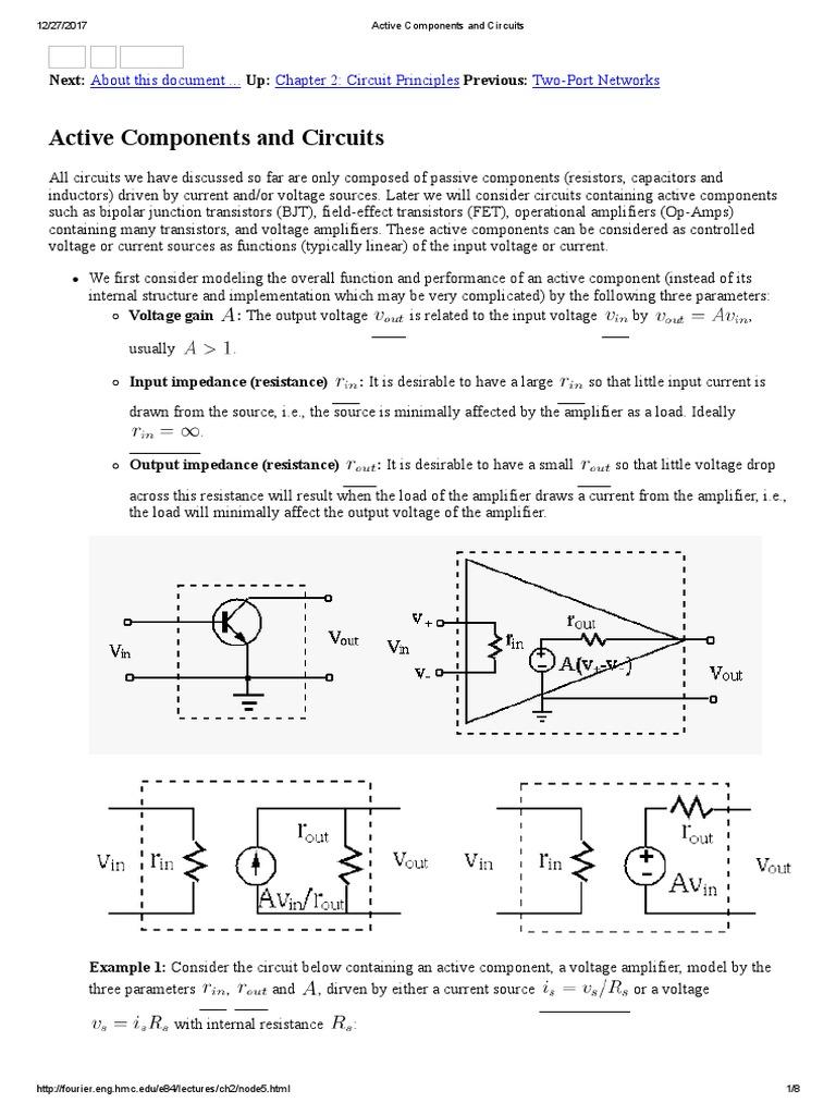 Active Components And Circuits Current Circuit Composed Of Amplifier Amplifiercircuit 1538670647v1