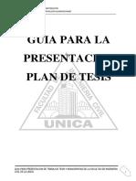 Propuesta de Guia Para La Presentacion Del Trabajo Del Plan de Tesis Fic 2016