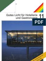 """licht.wissen 11 """"Gutes Licht für Hotellerie und Gastronomie"""""""