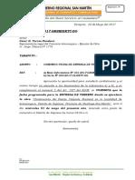Carta Nº -Comunico Fecha de Entrega de Terreno Cons. Armanayacu