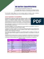 1 Análisis de Datos Cuantitativos
