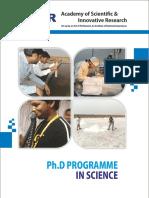 Brochure PhD Science