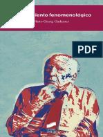 El Movimiento Fenomenológico (Perspectivas) - Hans-Georg Gadamer